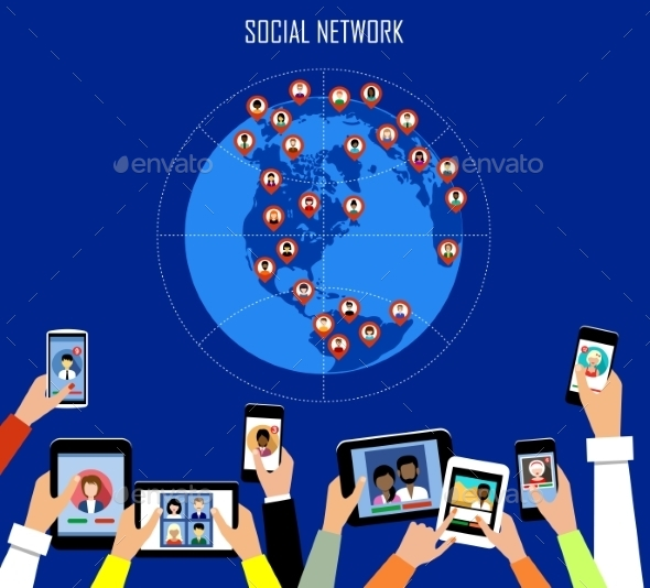 Social Network Concept - Web Technology