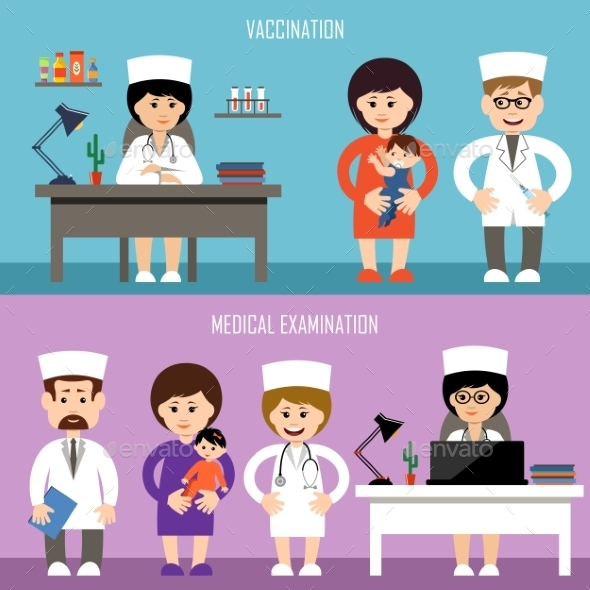 Medical Office Children Vaccination - Health/Medicine Conceptual