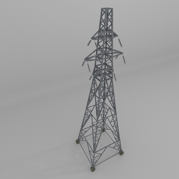 Column Power Lines - 3DOcean Item for Sale
