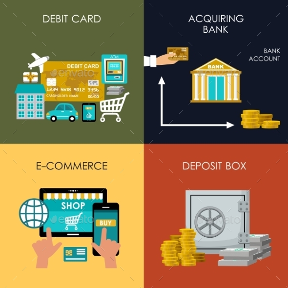 Banking Set Icons - Concepts Business