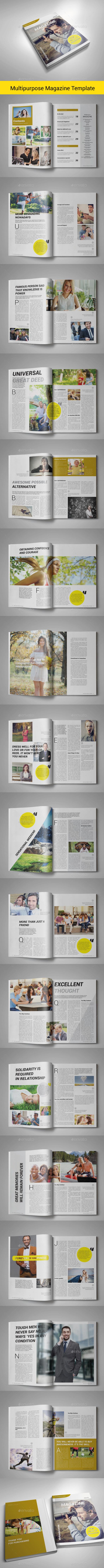 Multipurpose Magazine Template | Issue 10 - Magazines Print Templates