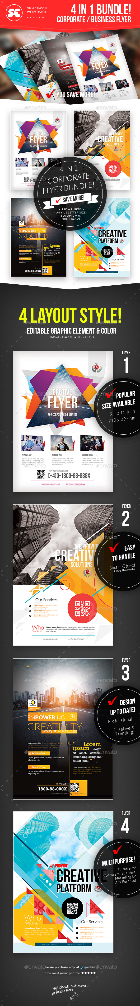 Corporate Business Flyer Bundle - Corporate Flyers