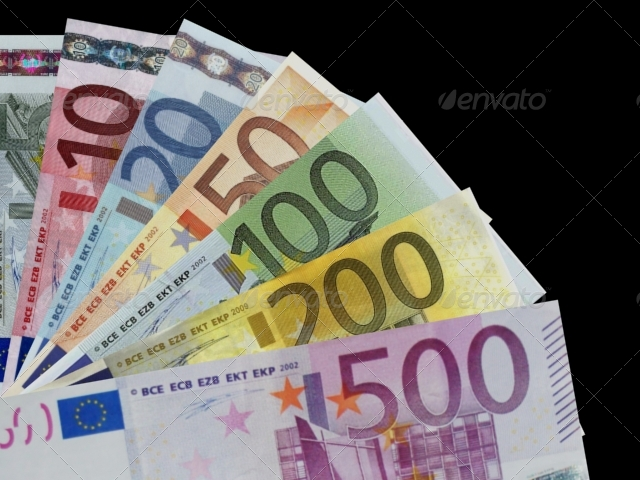 Euro bills - 3DOcean Item for Sale