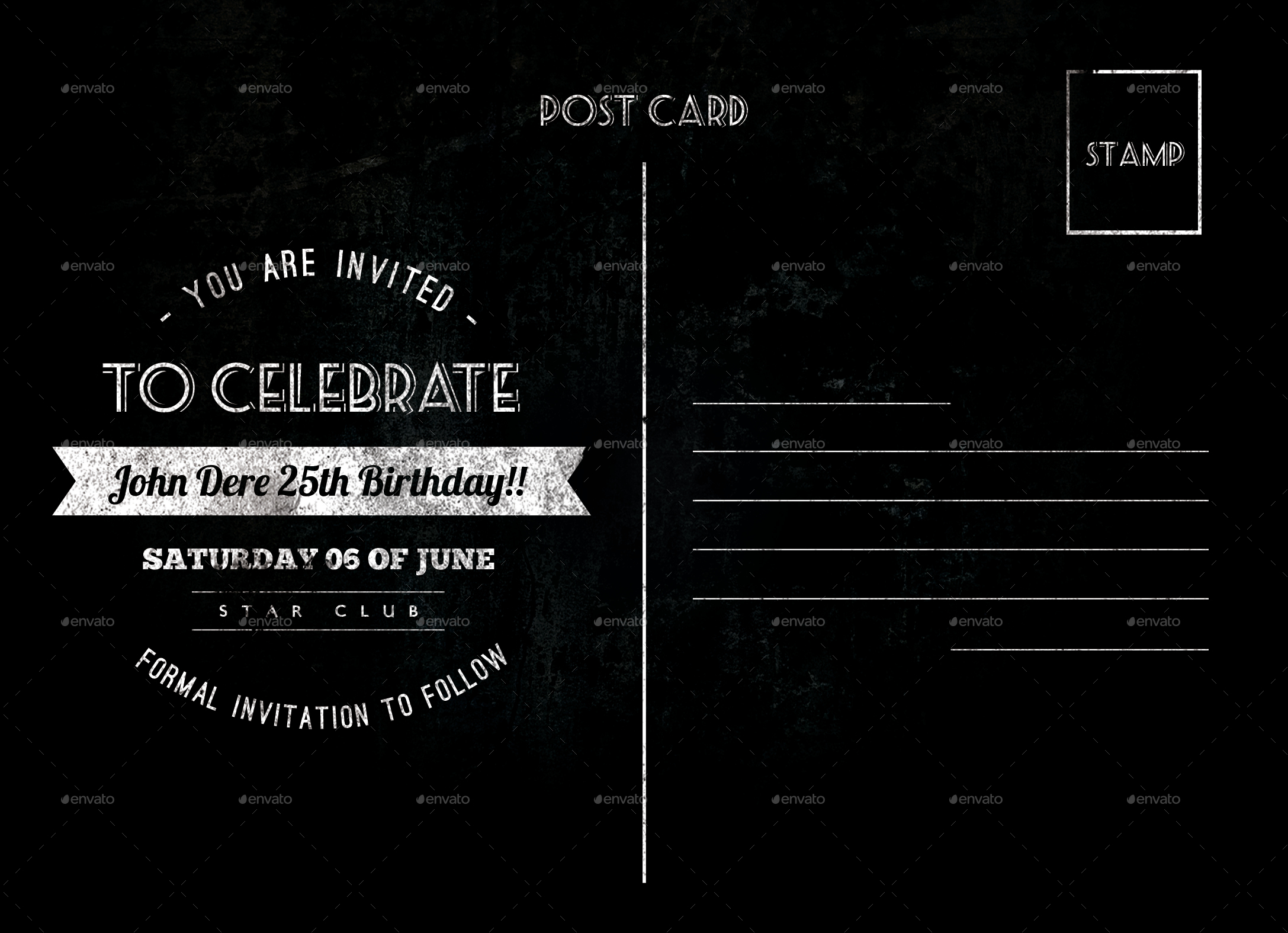 Black birthday card image collections birthday cards ideas black birthday cards image collections birthday cards ideas vintage birthday postcard by nishamehta graphicriver previewbirthday card bookmarktalkfo Images