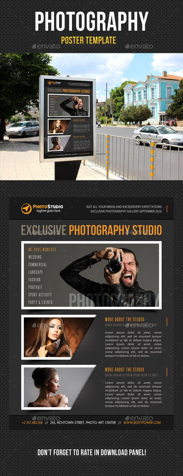 Photography Poster Template V01 - Signage Print Templates