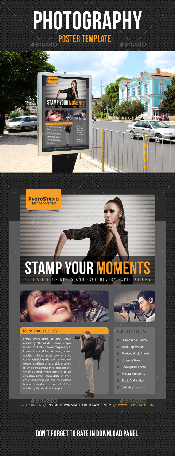 Photography Poster Template V02 - Signage Print Templates