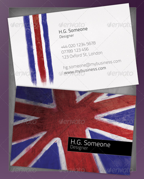 Cool Britannia Business Card