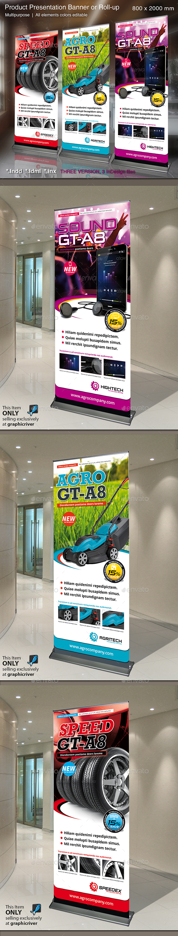 Banner or Rollup Product Presentation - Signage Print Templates