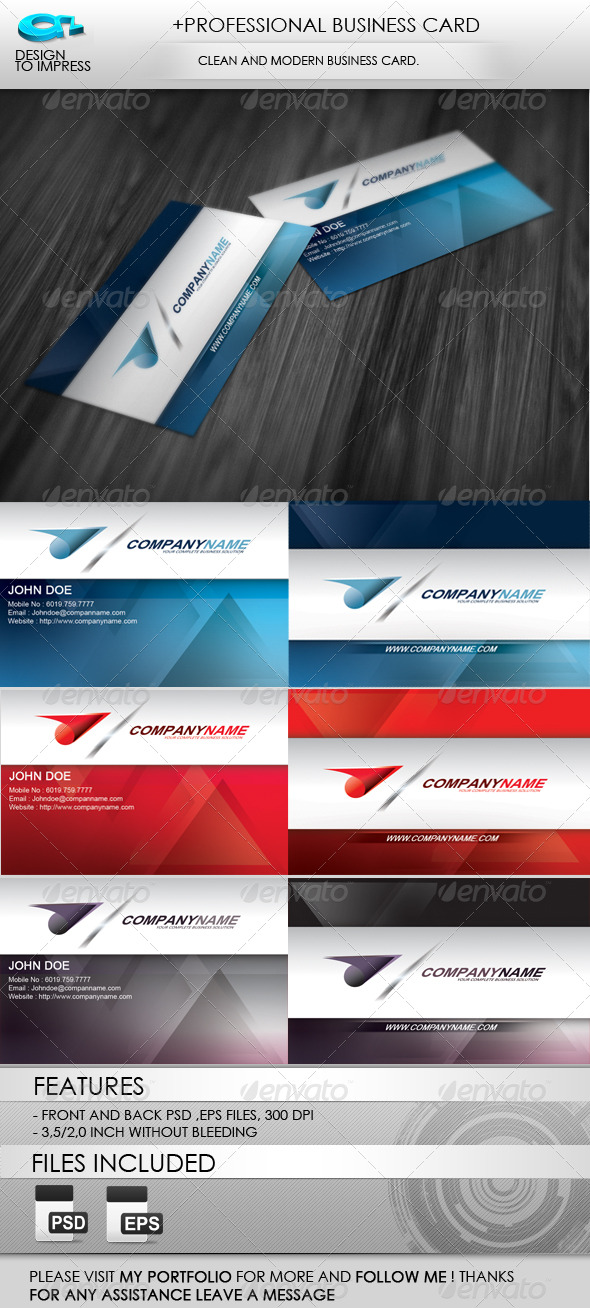 +Professional Business Card  - Corporate Business Cards