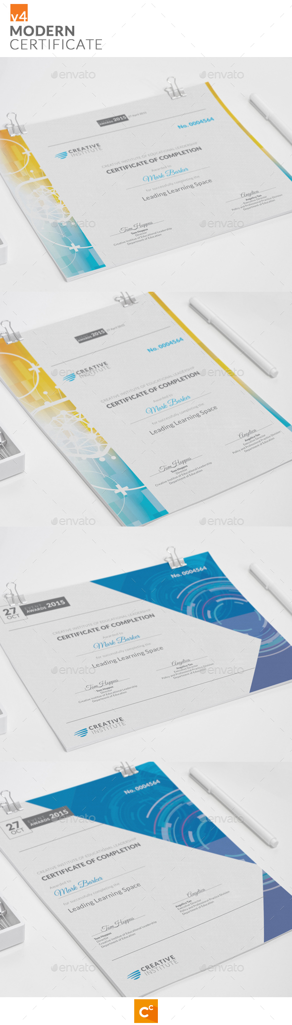 Modern Certificate v4 - Certificates Stationery