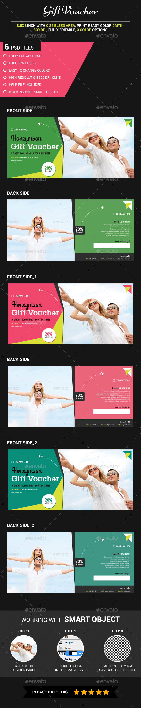 Honeymoon gift voucher - Loyalty Cards Cards & Invites