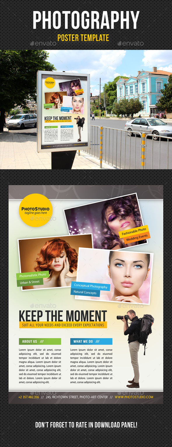 Photography Poster Template V03 - Signage Print Templates