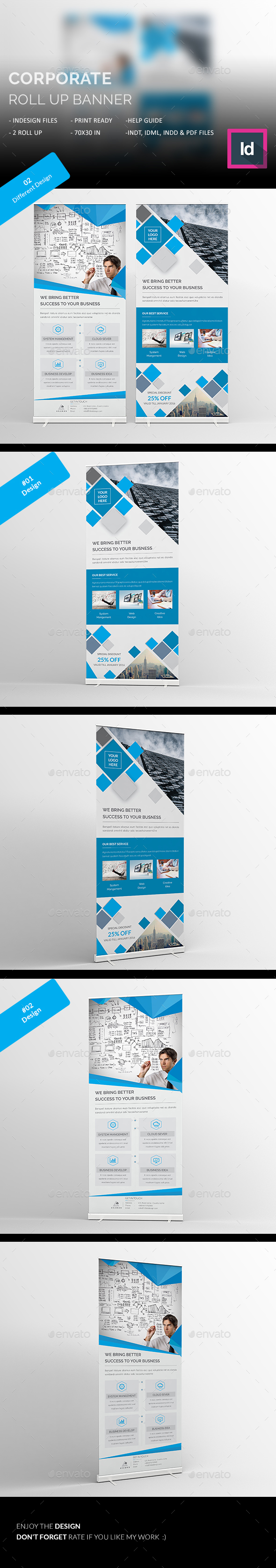 Corporate Roll Up Banners - Signage Print Templates
