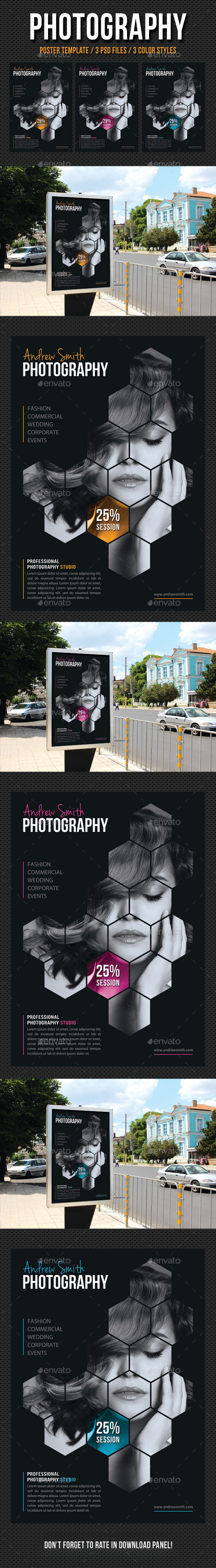 Photography Poster Template V04 - Signage Print Templates