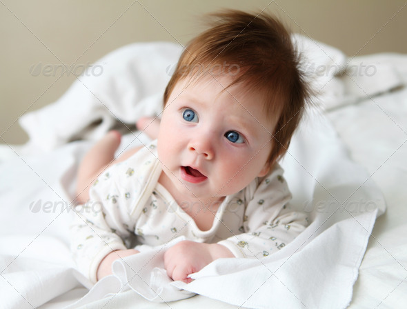 beautuful redhair infant - Stock Photo - Images
