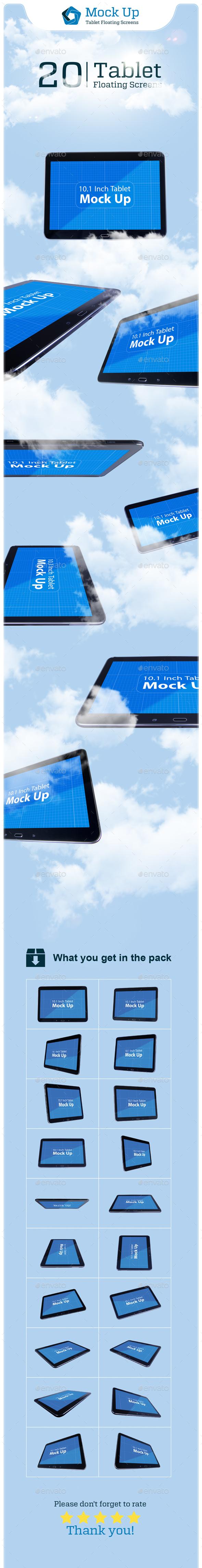 Tablet Floating Screens - Mobile Displays