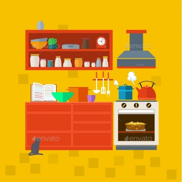 Cooking Tools And Kitchenware. - Objects Vectors