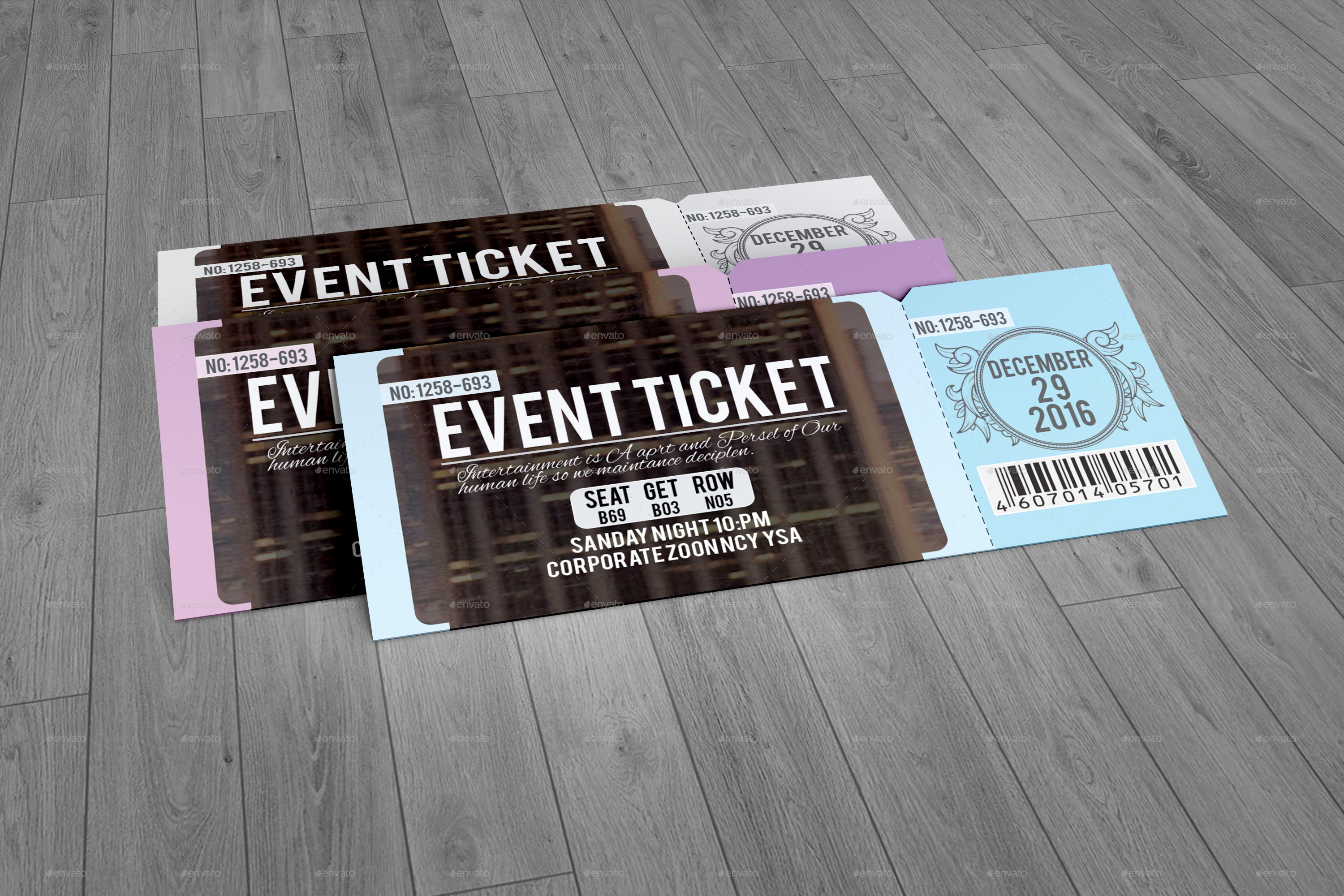 Event ticket by perfectpixel14 graphicriver for Create event tickets free