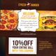 Restaurant Postcard With Coupon Code - GraphicRiver Item for Sale