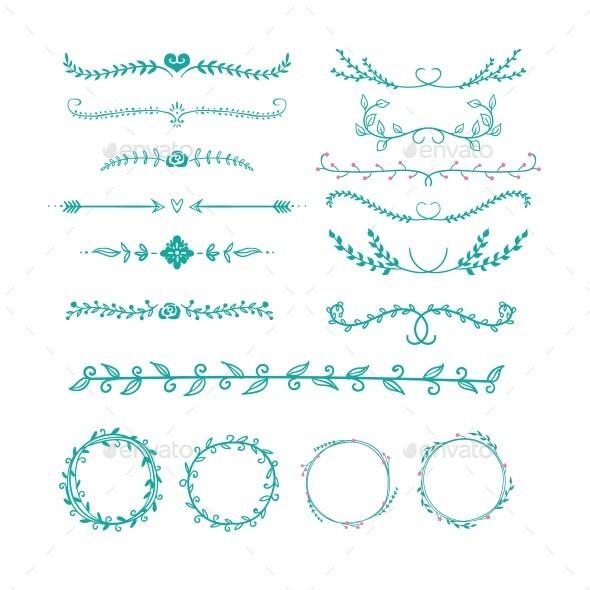 Hand Drawn Ornaments - Flourishes / Swirls Decorative