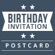 Birthday Invitation Postcard - GraphicRiver Item for Sale