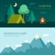 Camping And Mountain Camp - GraphicRiver Item for Sale