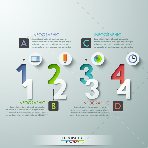 Modern Infographics Numbers Template - Infographics