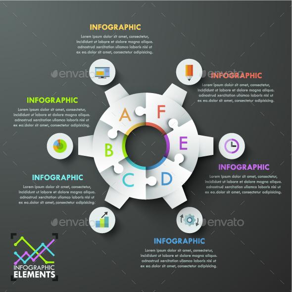 Modern Infographics Gear Template - Infographics