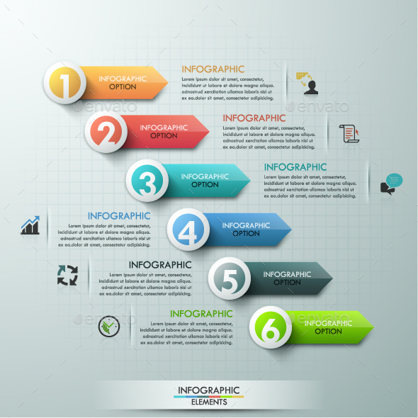 Modern Infographics Paper Arrows Template - Infographics