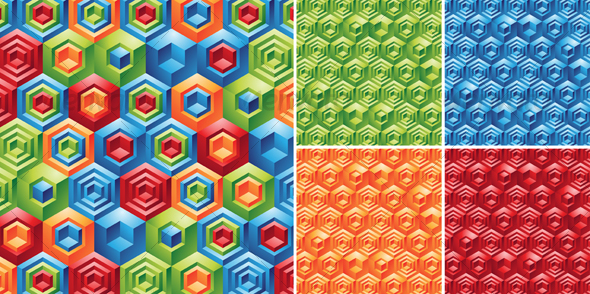 Cubes Backgrounds - Patterns Decorative