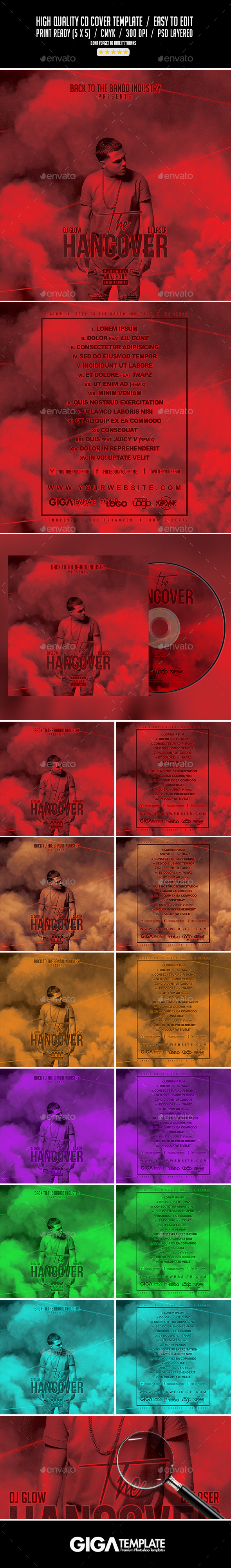 The Hangover | Mixtape Album CD Cover Template - CD & DVD Artwork Print Templates