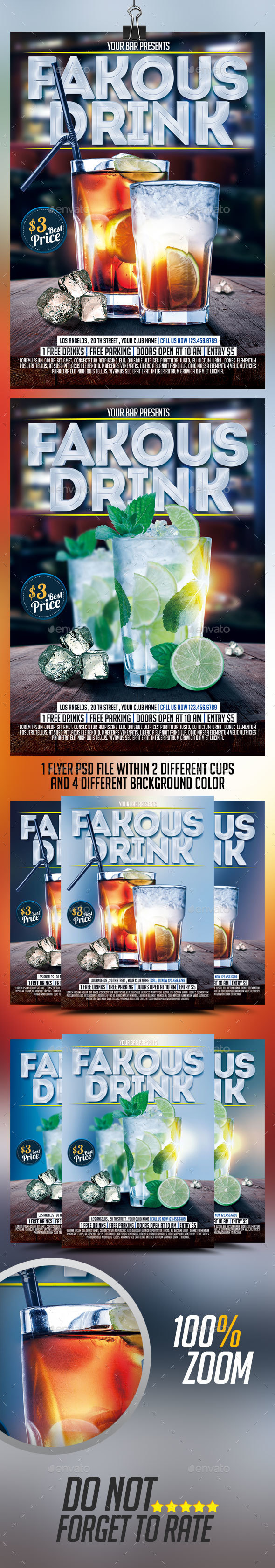 Drinks Flyers - Events Flyers