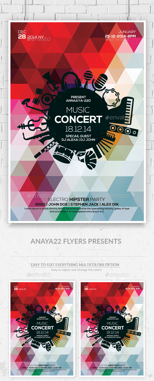 Concert Party Flyer - Clubs & Parties Events