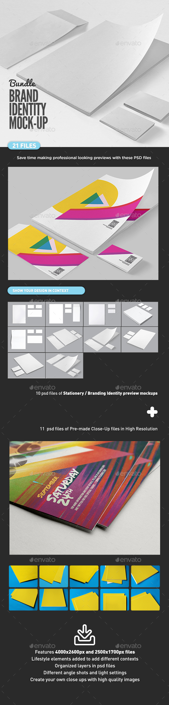Branding Identity Stationery Mock-Up Bundle - Print Product Mock-Ups