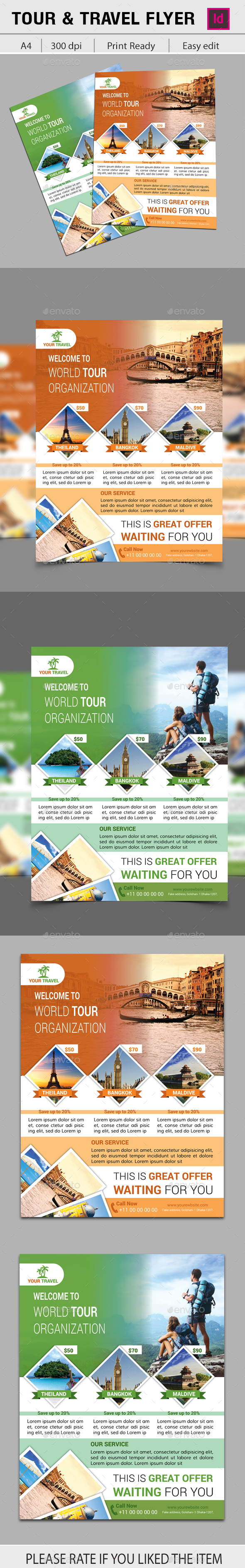 Travel and Tour Flyer - Holidays Events
