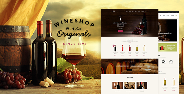 WineShop – Food & Wine WordPress Store
