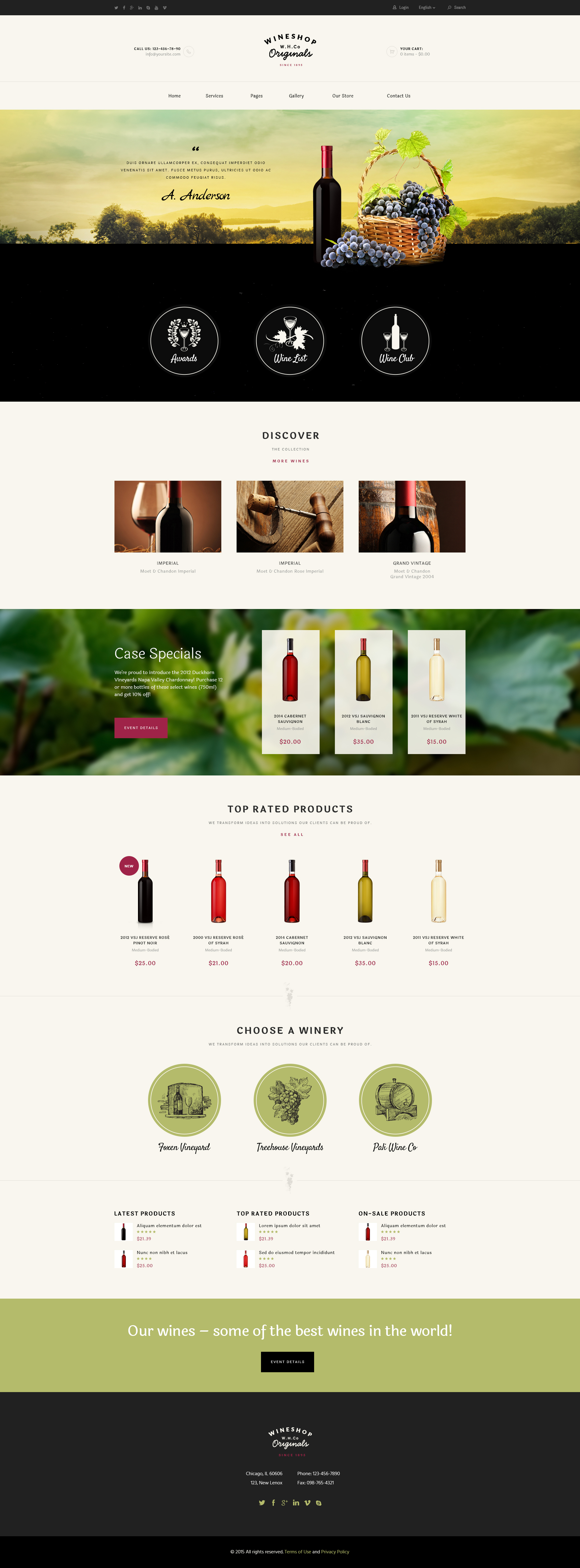 WineShop - Food & Wine Online Store WordPress Theme by ThemeREX ...