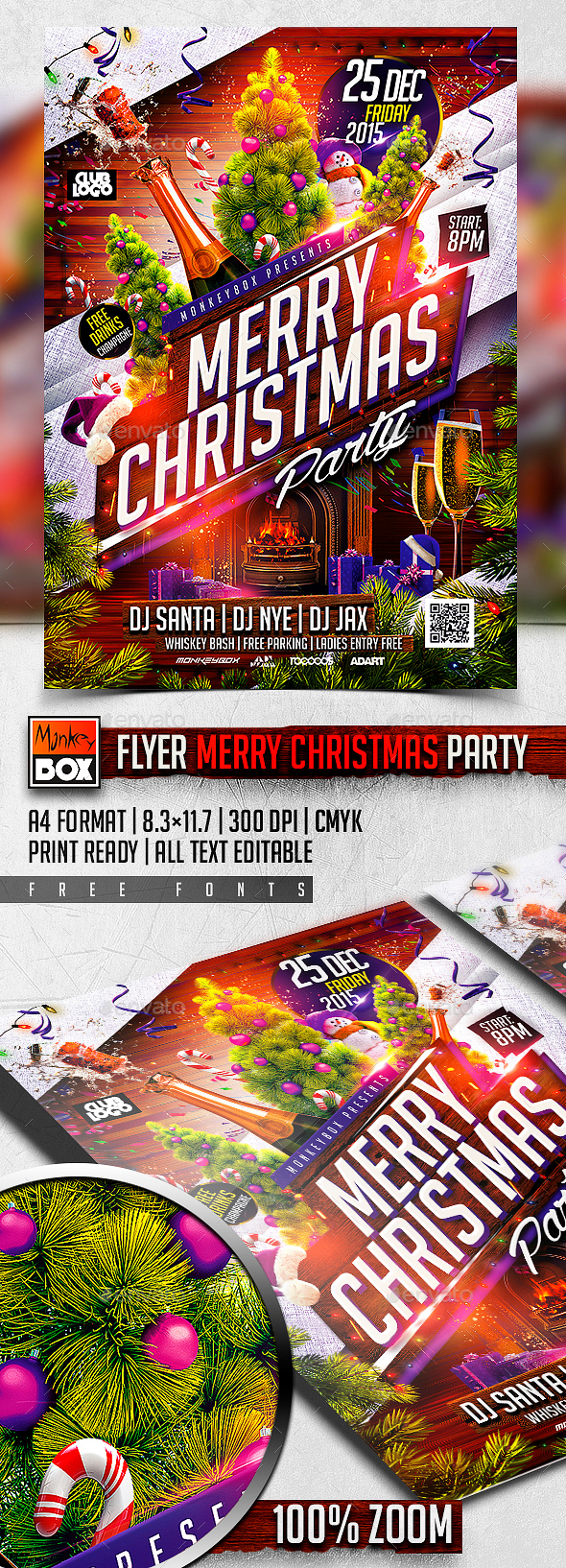 Flyer Merry Christmas Party - Holidays Events