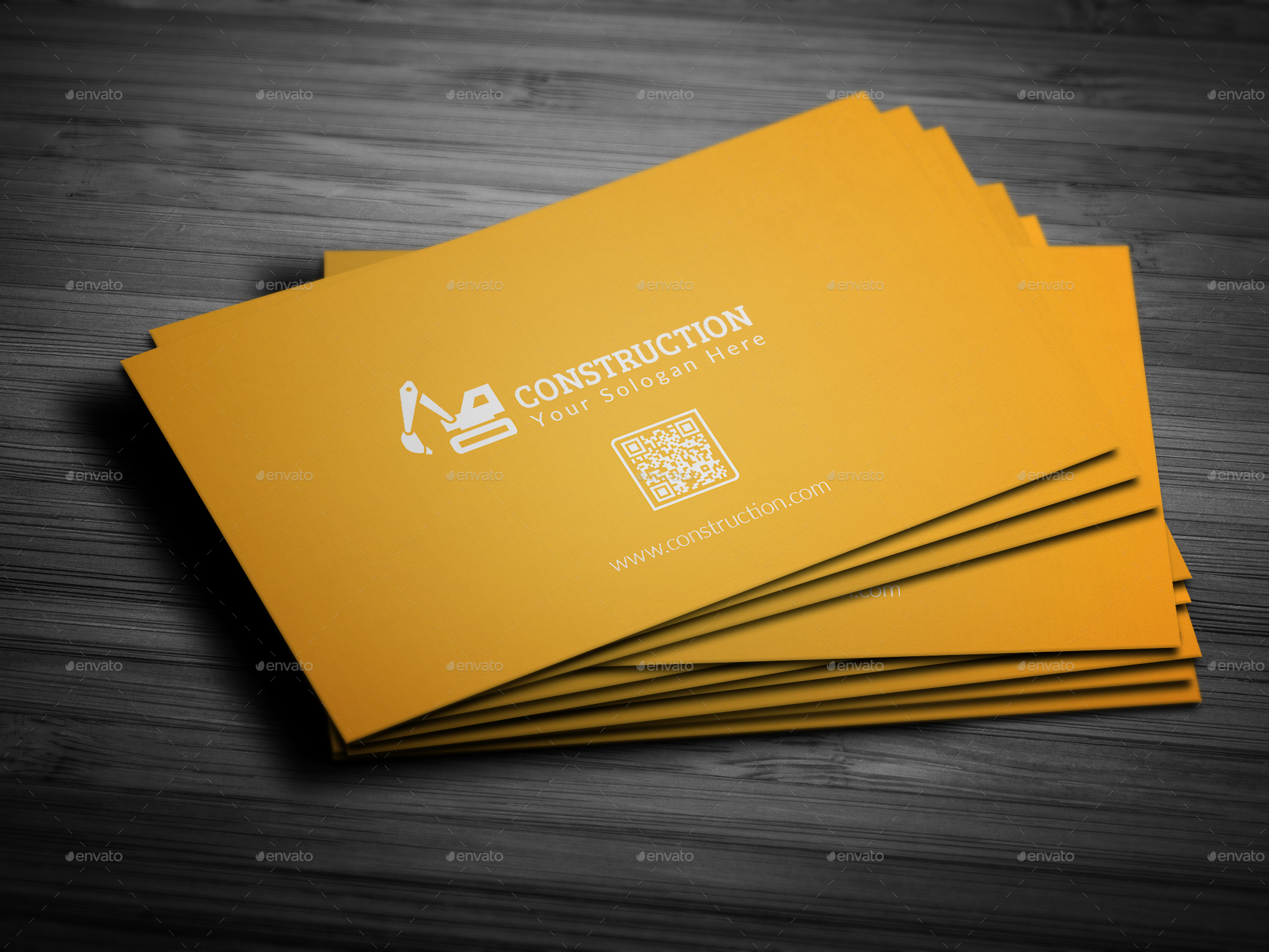 construction business card by mehedihassan graphicriver