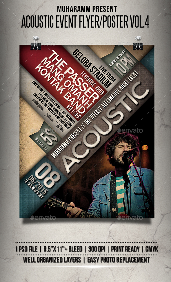 Acoustic Event Flyer / Poster Vol.4 - Events Flyers