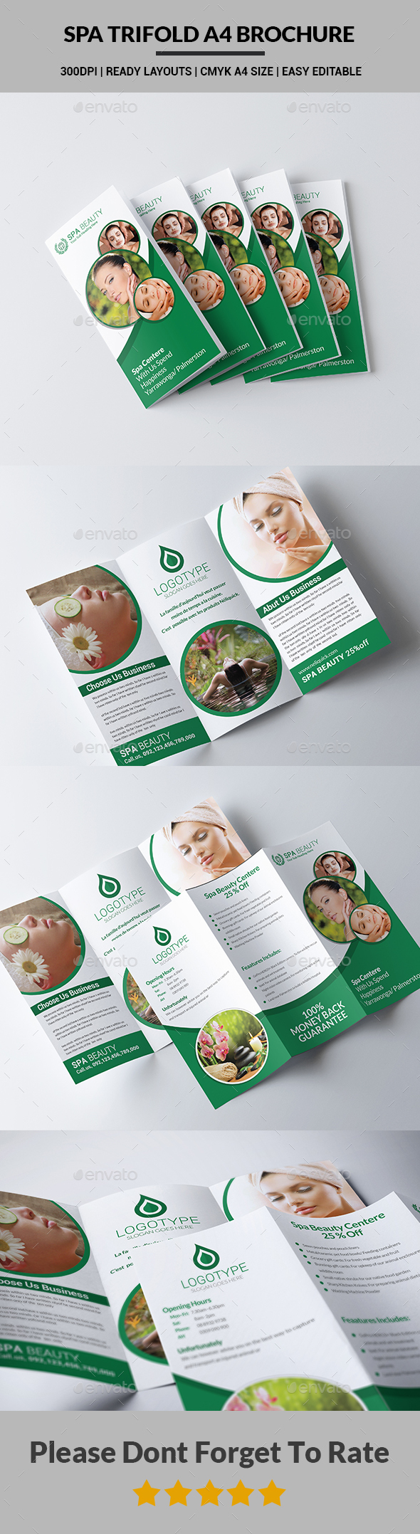 Spa Trifold A4 Brochure - Brochures Print Templates