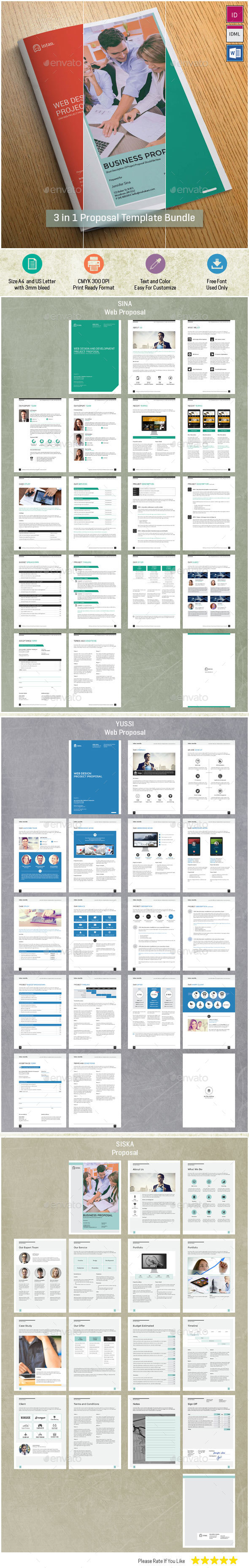 Bundle Vol 2 Proposal Template - Proposals & Invoices Stationery