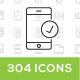 304 Vector icons - GraphicRiver Item for Sale