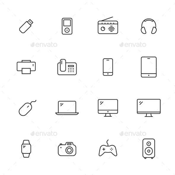 Devices Icons - Man-made objects Objects