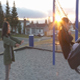 Sister Pushes Sister On Swing - VideoHive Item for Sale