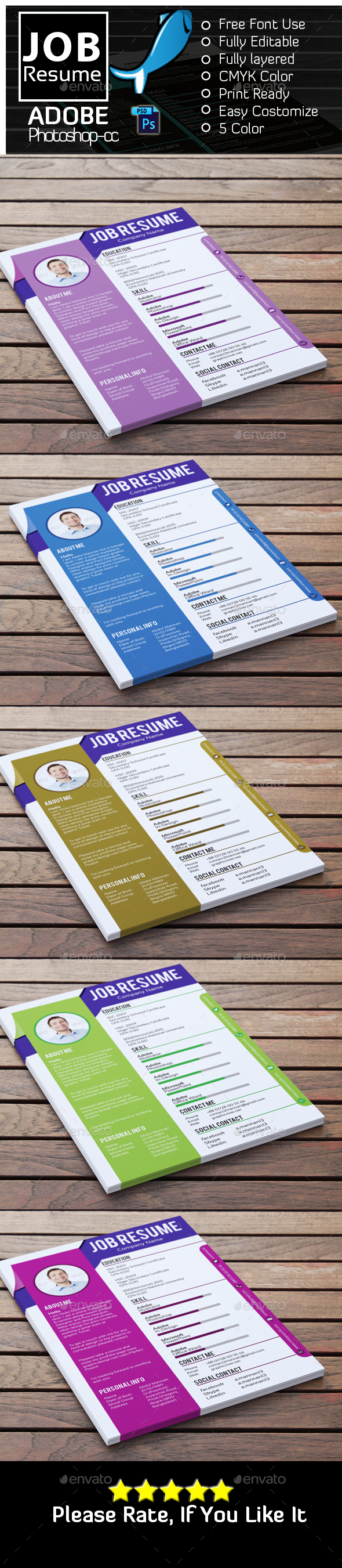 Job Resume - Resumes Stationery