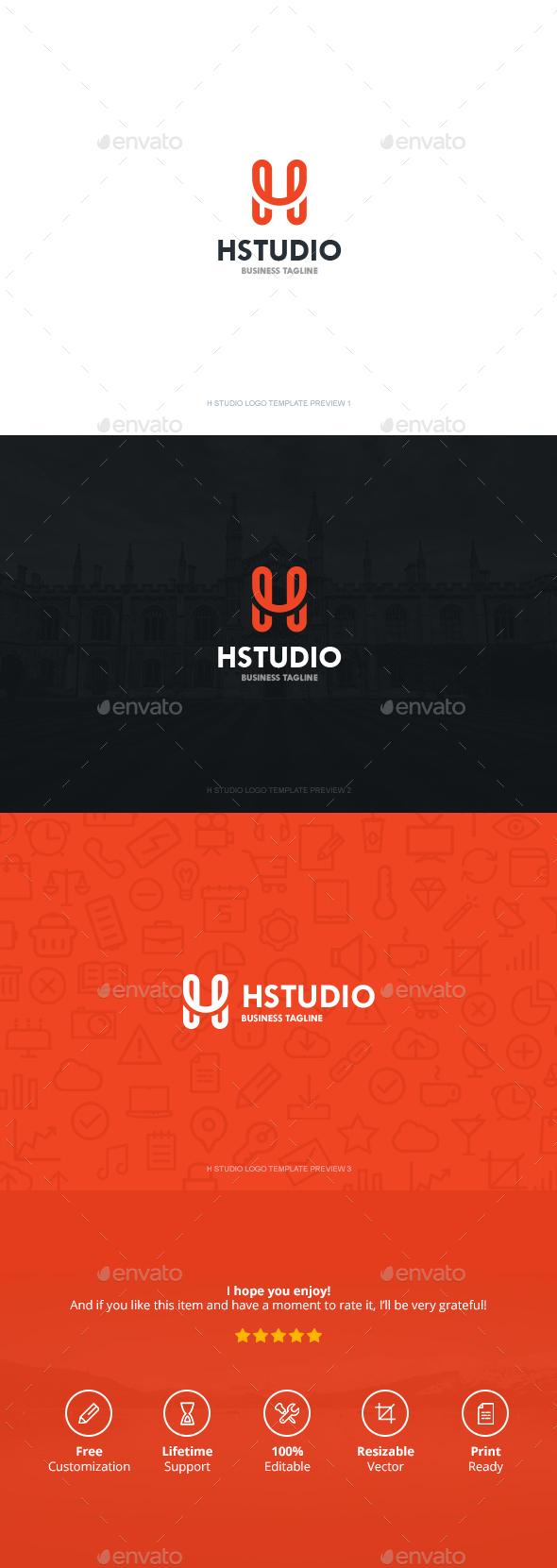 H Studio - Symbols Logo Templates