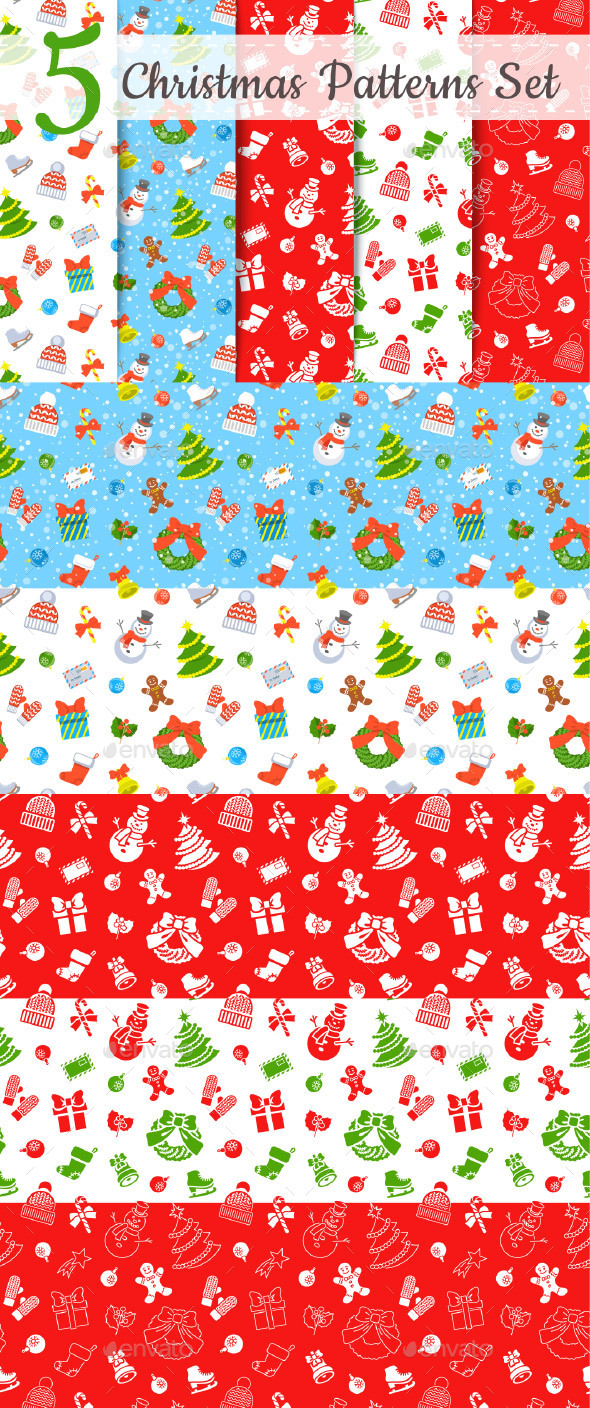 Christmas Holiday Seamless Background Pattern - Christmas Seasons/Holidays