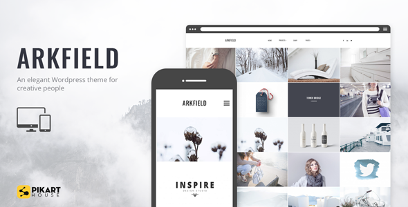 ARKFIELD – A Elegant Portfolio WordPress Theme