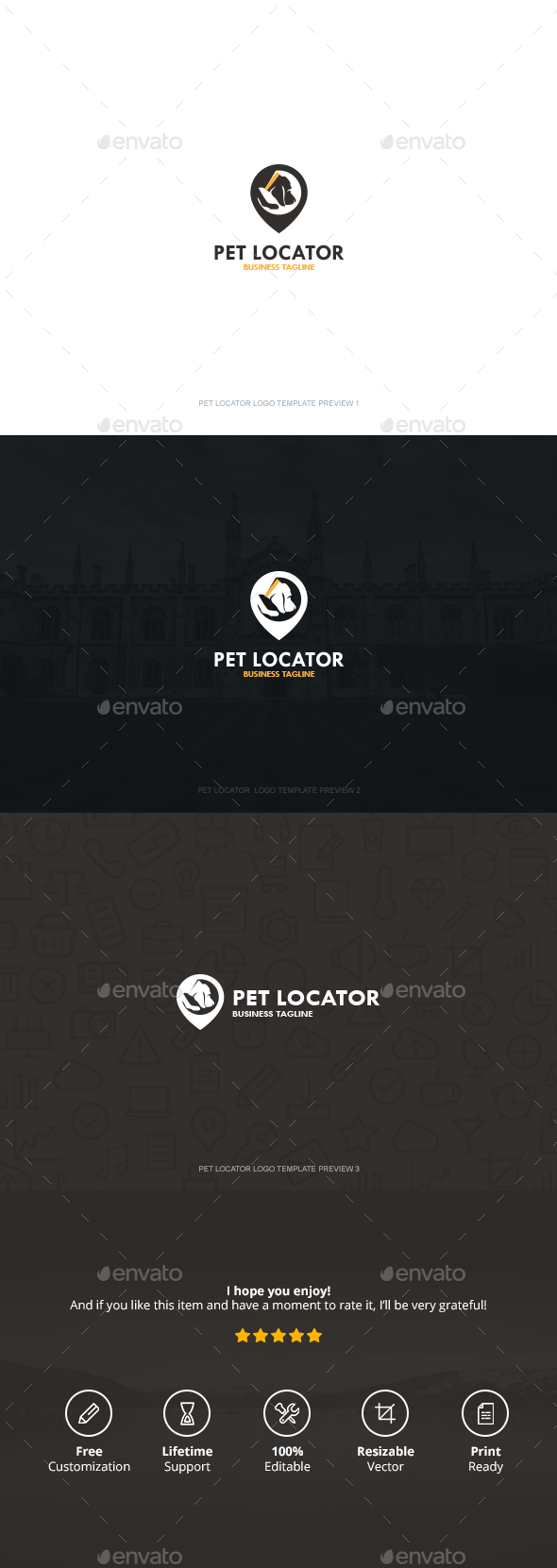 Pet Locator Logo - Symbols Logo Templates